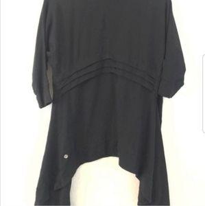 Lululemon Black Namaste Wrap open front cardigan